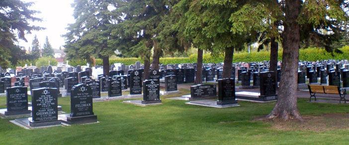 Photo of the Edmonton Jewish Cemetery